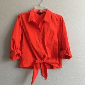 Knot button down shirt size Large